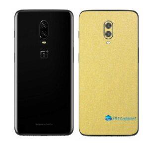OnePlus 6T Adesivo Skin Película Traseira Metal Dourado