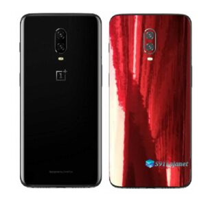 OnePlus 6T Adesivo Skin Película Traseira Metal Gold Red