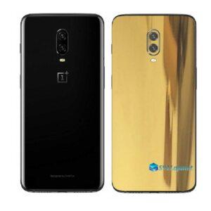 OnePlus 6T Adesivo Skin Película Traseira Metal Ouro Gold