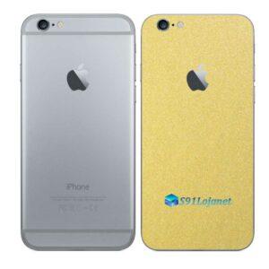 iPhone 6 Adesivo Skin Película Traseira Metal Dourado