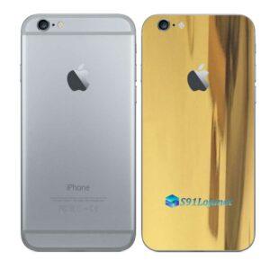 iPhone 6 Adesivo Skin Película Traseira Metal Ouro Gold