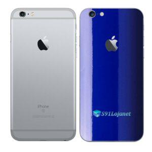 iPhone 6 Plus Adesivo Skin Película Traseira Cor Azul