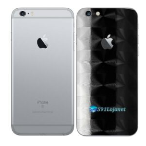 iPhone 6 Plus Adesivo Skin Película Traseira FX Dimension Black