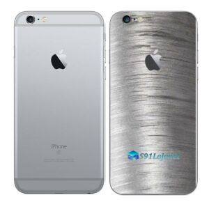 iPhone 6 Plus Adesivo Skin Película Traseira Metal Escovado