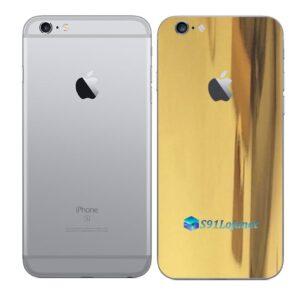 iPhone 6 Plus Adesivo Skin Película Traseira Metal Ouro Gold