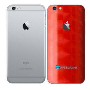 iPhone 6s Adesivo Skin Película Traseira FX Dimension Red