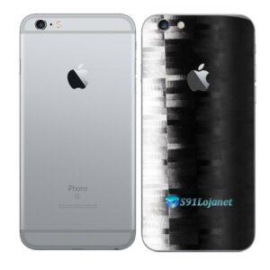 iPhone 6s Adesivo Skin Película Traseira FX Pixel Black