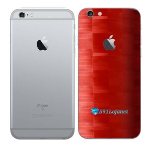 iPhone 6s Adesivo Skin Película Traseira FX Pixel Vermelho