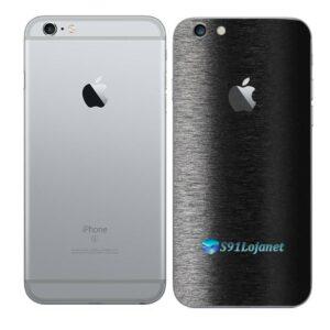 iPhone 6s Plus Adesivo Skin Película Traseira FX Preto Escovado
