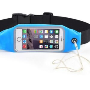 Pochete Fitness Corrida Celular Cinto Chave Academia Azul C