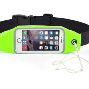 Pochete Fitness Corrida Celular Cinto Chave Academia Verde