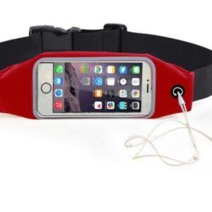Pochete Fitness Corrida Celular Cinto Chave Academia Red