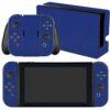 Nintendo Swicht Adesivo Skin Película Fibra Azul