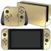 Nintendo Swicht Adesivo Skin Película Fibra Dourado
