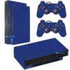 Playstation 2 PS2 Fat Skin Adesivo Película Fibra Azul