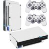 Playstation 2 PS2 Fat Skin Adesivo Película Fibra Branco