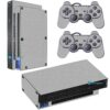 Playstation 2 PS2 Fat Skin Adesivo Película Fibra Cinza
