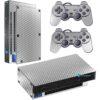 Playstation 2 PS2 Fat Skin Adesivo Película Fibra Cromado