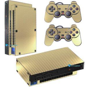 Playstation 2 PS2 Fat Skin Adesivo Película Fibra Dourado