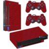 Playstation 2 PS2 Fat Skin Adesivo Película Fibra Vermelho