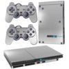 Playstation 2 PS2 Slim Adesivo Skin Película Fibra Cromo