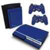 Playstation 3 PS3 Fat Adesivo Fibra Azul
