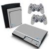 Playstation 3 PS3 Fat Adesivo Fibra Cinza