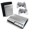 Playstation 3 PS3 Fat Adesivo Fibra Cromado