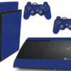 Playstation 3 PS3 Super Slim Adesivo Fibra Azul