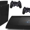 Playstation 3 PS3 Super Slim Adesivo Fibra Preto