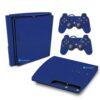 Playstation 3 Slim PS3 Adesivo Fibra Azul