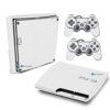 Playstation 3 Slim PS3 Adesivo Fibra Branco