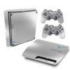 Playstation 3 Slim PS3 Adesivo Fibra Cromado