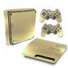 Playstation 3 Slim PS3 Adesivo Fibra Dourado