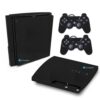Playstation 3 Slim PS3 Adesivo Fibra Preto