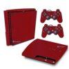 Playstation 3 Slim PS3 Adesivo Fibra Vermelho
