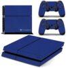 Playstation 4 PS4 Fat Adesivo Skin Fibra Azul