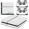 Playstation 4 PS4 Fat Adesivo Skin Fibra Branco