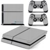 Playstation 4 PS4 Fat Adesivo Skin Fibra Cinza