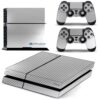 Playstation 4 PS4 Fat Adesivo Skin Fibra Cromo