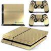 Playstation 4 PS4 Fat Adesivo Skin Fibra Dourado