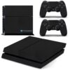 Playstation 4 PS4 Fat Adesivo Skin Fibra Preto