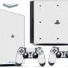 Playstation 4 PS4 Pro Adesivo Skin Fibra Branco