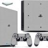 Playstation 4 PS4 Pro Adesivo Skin Fibra Cinza