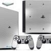 Playstation 4 PS4 Pro Adesivo Skin Fibra Cromo