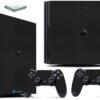 Playstation 4 PS4 Pro Adesivo Skin Fibra Preto