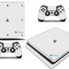 Playstation 4 PS4 Slim Adesivo Skin Fibra Branco