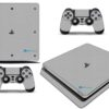 Playstation 4 PS4 Slim Adesivo Skin Fibra Cinza