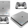 Playstation 4 PS4 Slim Adesivo Skin Fibra Cromo