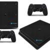Playstation 4 PS4 Slim Adesivo Skin Fibra Preto